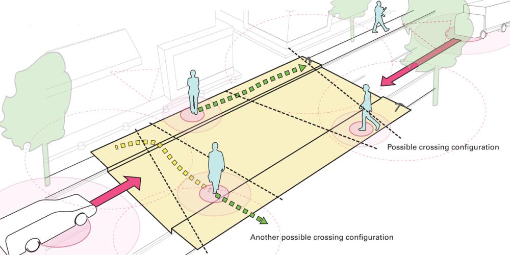 Starling Crossing, un paso de peatones dinámico e interactivo.