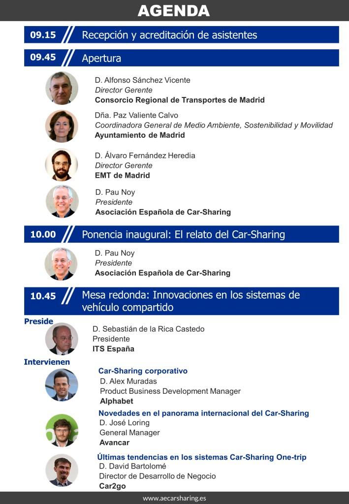 agenda V Conferencia Esp de carsharing