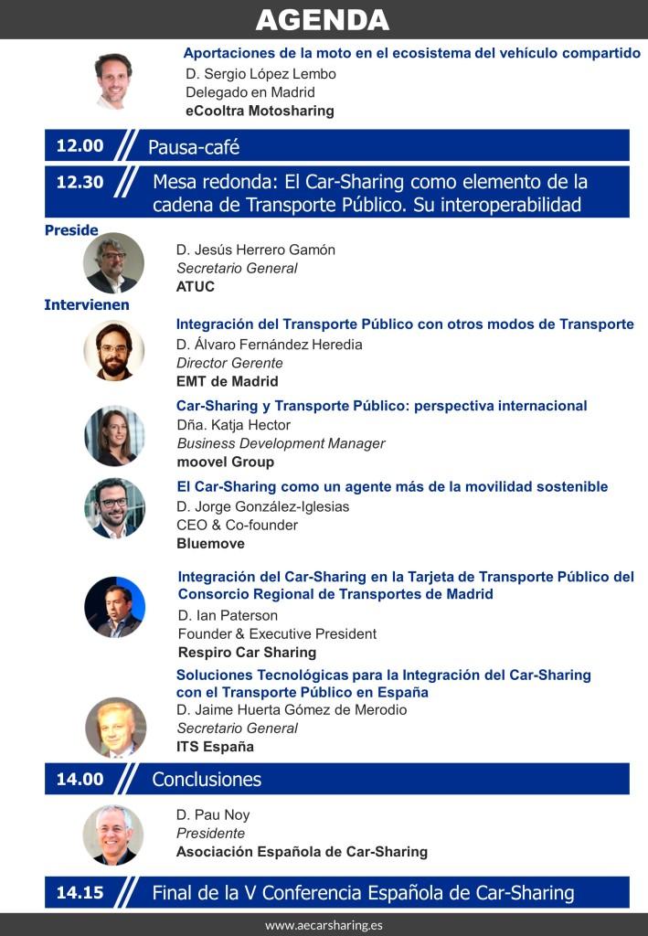 agenda V Conferencia Esp de carsharing2