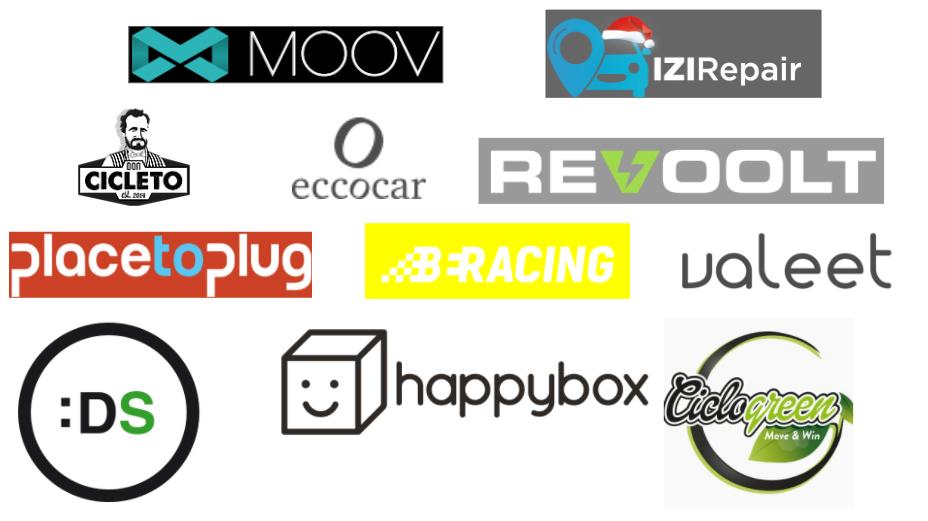 logos nuevas startups HUB Movilidad Conectada